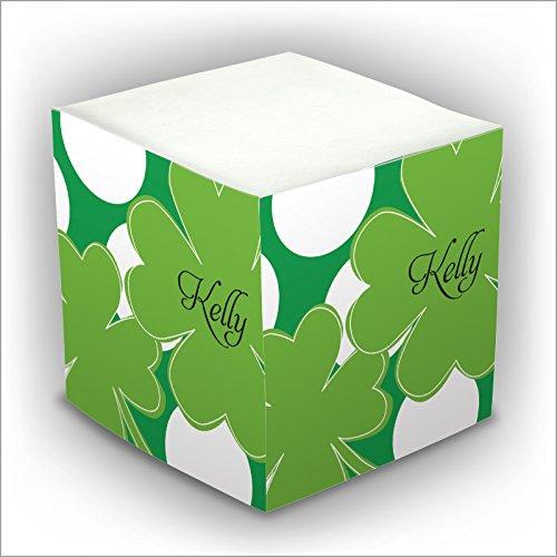 (Personalized Self Stick Memo Cube - 4-Leaf Clover - 2807_28)