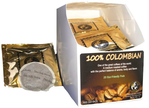 100% COLOMBIAN COFFEE PODS - Good As Gold Coffee - (1 Box / 20 Coffee Pods)