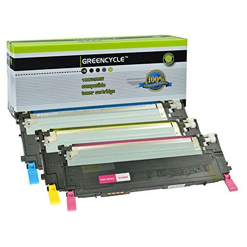 GREENCYCLE 3 Packs CLT-409S for Samsung CLT-C409S CLT-Y409S CLT-M409S Cyan Yellow Magenta Laser Toner Cartridge for CLP-310 CLP-310N CLP-315 CLP-315W CLX-3170 CLX-3175 CLX-3175FN CLX-3175FW CLX-3175N