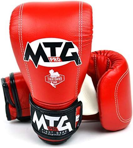 MTG Pro Red Muay Thai Boxing Bag Gloves
