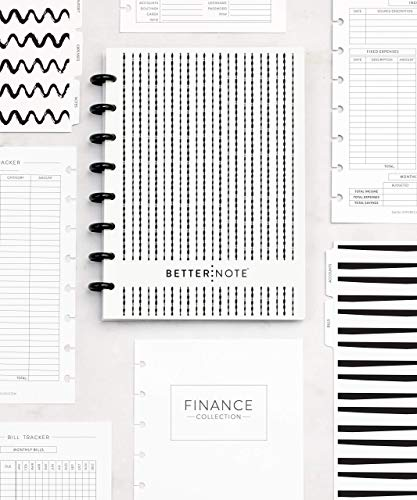 BetterNote FINANCE Notebook, 8 Disc Half Letter Size, Collection Compatible with Levenger Circa, Arc, TUL, - Finance Lessons