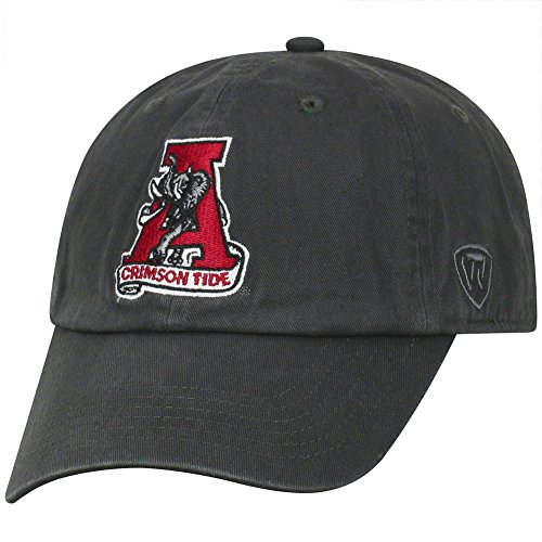 Top of the World Alabama Crimson Tide Men's Vintage Hat Vault Icon, Charcoal, ()