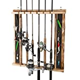 Cheap Rush Creek Creations Rustic 6 Fishing Rod Wall Storage Rack – 3 Minute Assembly