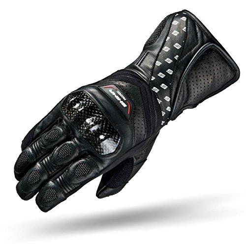 SHIMA Prospeed Black, Air Flow Summer Sport Leather Motorcycle Gloves (S-XXL), Black (XL, Black)