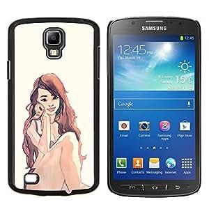 Caucho caso de Shell duro de la cubierta de accesorios de protección BY RAYDREAMMM - Samsung Galaxy S4 Active i9295 - Acuarela Peli Roja