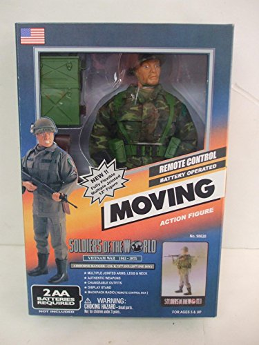 """Soldiers of the World 12inch """"Moving"""" Figure Vietnam War 1961-1975 Airborne Ranger - Co.F, 75th INF. (25th INF.DIV.)"""