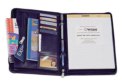 Black Winn International Napa w Portfolio Cowhide Zipper Leather Closure in rzrvwPFq