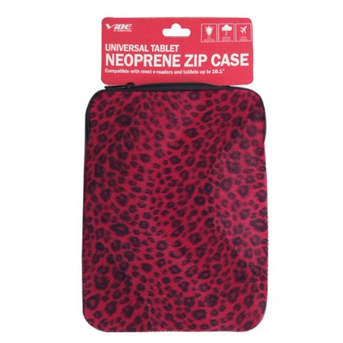 (VIBE ESSENTIALS Universal Neoprene Zip Case for Tablets (VETAB-3550-CRED))