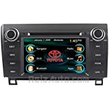 2007-2013 Toyota Tundra 2008-2014 Sequoia In-Dash GPS Navigation DVD CD Stereo Bluetooth Hands-free A2DP Music Streaming FM AM Radio USB MP3 SD AV Receiver Steering Wheel Controls iPod iPhone Ready Touch Screen Multimedia Player AUDIO VIDEO Deck