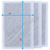 Dynamic Air Cleaner Replacement Filter Pads 16 1/2 x 28 1/2 Refills (3 Pack) White