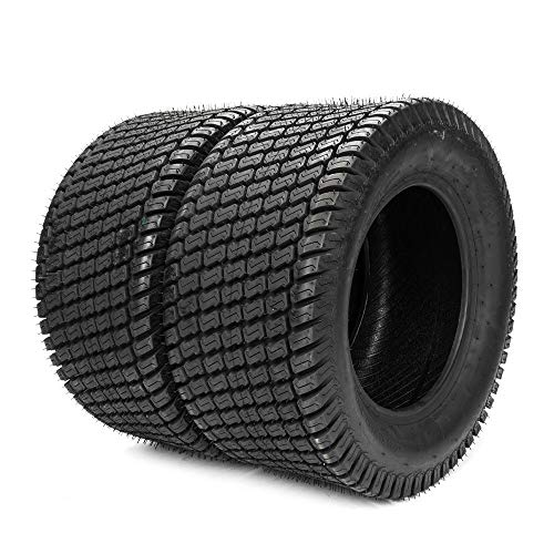 Set of 2 Turf Tubeless Tires 23x9.50-12 Lawn & Garden Mower Tractor Cart Tires 4Ply 23 9.50 12