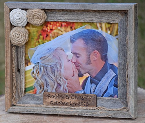 Rustic Barnyard Wooden Photo Frame - Rustic Frame - Personalized Picture Frame - Christmas Gift - Wedding Gift - Barnyard Picture Frame