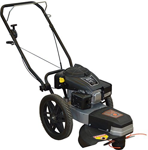 Dirty Hand Tools | 101085 | Walk Behind String Trimmer | 22 Inch Cutting Width 5 Cutting Heights | Includes Cutting Head Guard, Cutting Line and 4 Inch Blades