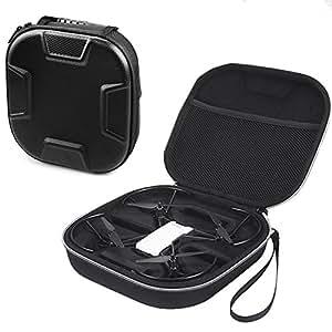 Esimen Hard EVA Travel Black Case for DJI Tello Carry Bag Protective Box ,Fits Extra Battey and Controller (Black)