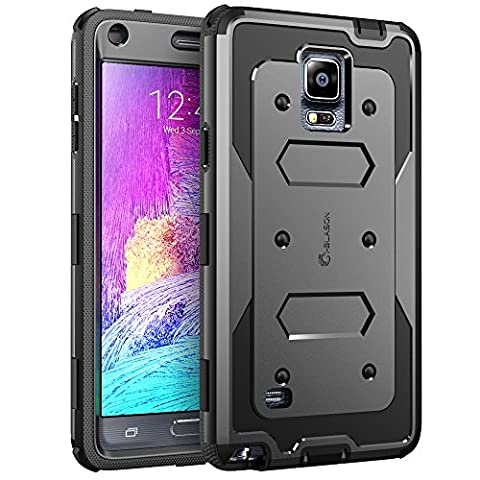 Galaxy Note 4 Case, i-Blason Armorbox Dual Layer Hybrid Full-body Protective Case For Samsung Galaxy Note 4 [SM-N910S / SM-N910C] with Front Cover and Built-in Screen Protector / Impact Resistant Bumpers (Cell Phone Covers For Samsung 4)