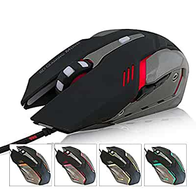 Amazon.com: FARSIC 6D Optical Gaming Mouse With Adjustable 3200 ...