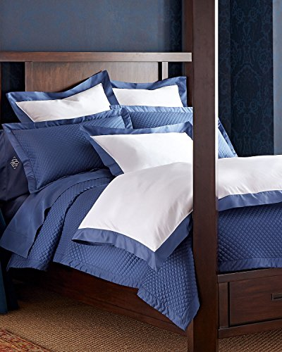 Ralph Lauren Home Langdon Polo Navy White & Navy Blue 624 Thread Count FULL/QUEEN Comforter Cover