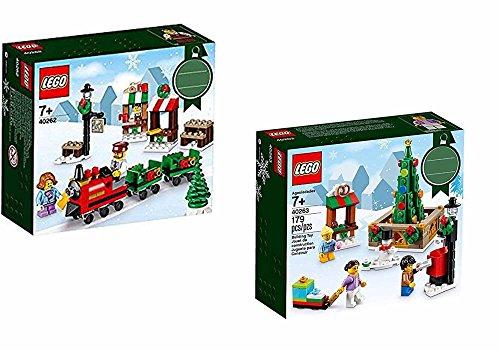2 Christmas Sets: Lego 40262 Christmas Train Ride & 40263 Christmas Town Square (City Christmas Lego)