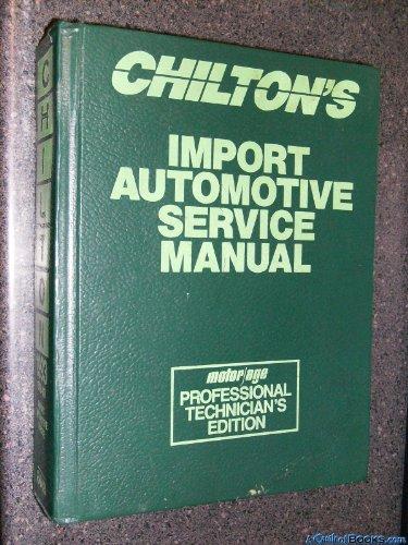 Descargar Libro Chilton's Import Automotive Service Manual/1993/1989-93 Kerry A. Freeman