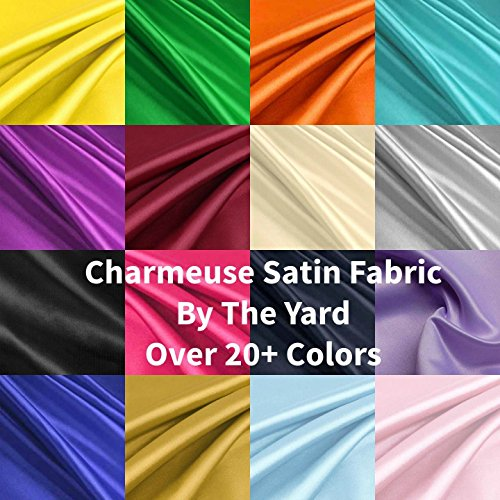 Solid Satin Charmeuse Fabrics - Apparel Wedding Home Decor - By The Yard - 60""