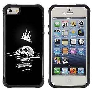 Be-Star único patrón Impacto Shock - Absorción y Anti-Arañazos Funda Carcasa Case Bumper Para Apple iPhone 5C ( Skull Crown Man Art King Sea Ocean Death Dark )