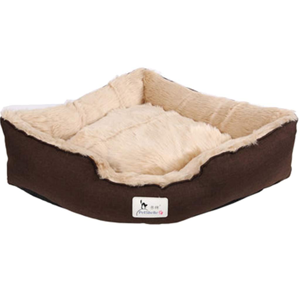 50×50×20cm JHD Kennels Pet Mat, Large Dog Kennel Cat House Removable And Washable Pet Nest Wear-resistant Bite Pet Bed (Size   50×50×20cm)