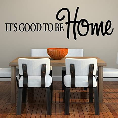 Amazoncom Its Good To Be Home Family Love Home Quotes Wall