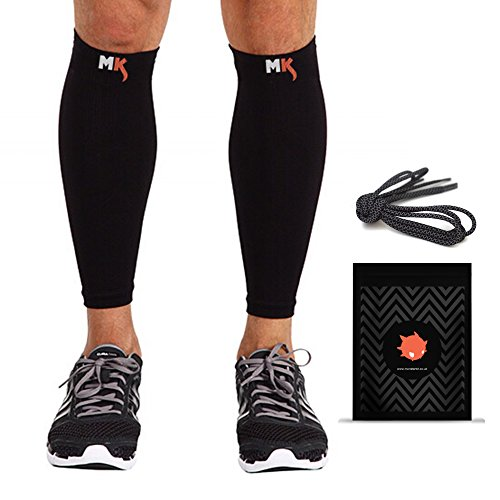 Calf-Compression-Sleeve-3M-Reflective-Laces-Socks-for-Men-Women-Guard-Sleeves-for-Calves-Shin-Splints-Running-Cycling-Hiking-CrossFit-Basketball-Baseball-Triathlon-Gym