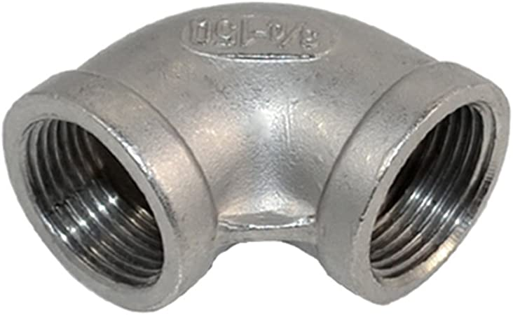 """3//8/""""Female BSPT 90 Degree Elbow Threaded Pipe Fitting Stainless Steel 304"""