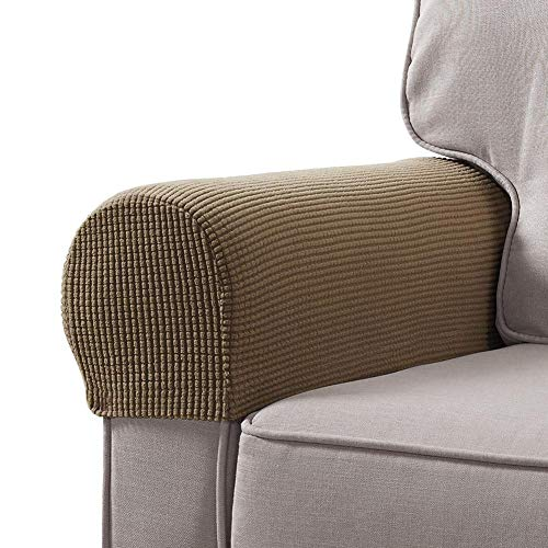 soundwinds - Juego de 2 Fundas para reposabrazos de sofá y sillón de Tela elástica, Protectores de reposabrazos Antideslizantes para sillas, ...
