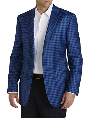 Jack Victor Huge and Tall Gingham Wool Sport Coat