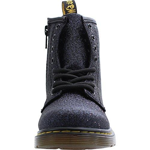 Dr. Martens Delaney Glitter Blue/Black Leather Junior Ankle Boots Blue