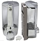 Silver ABS Soap Sanitizer Bathroom Shower Shampoo Dispenser Home Washroom Wall Mounted