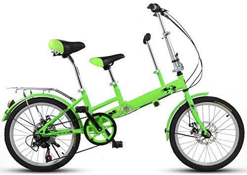 YSA Bicicleta de 20 Pulgadas, Madre e Hijo Tándem Plegable ...