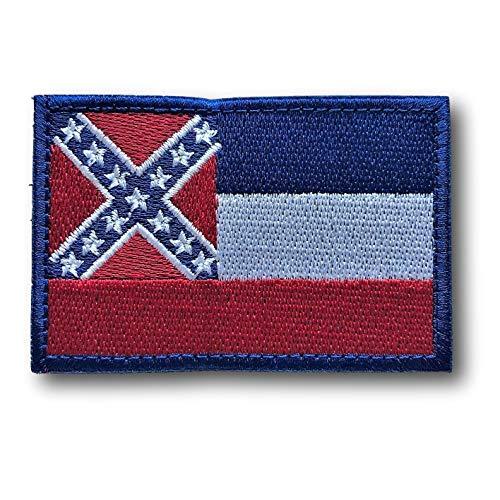 - Backwoods Barnaby Mississippi Flag Hook & Loop Patch - Garrison