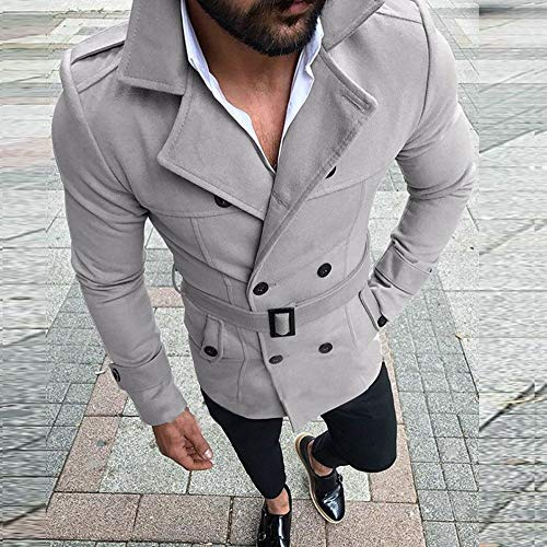 PASATO Trench Outwear Long Fit Sale Slim Coat Gray Jacket Suit Men's Classic Top Sleeve Autumn Clearance Winter rqPrTw
