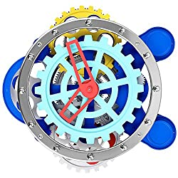 Compass Gear Quartz Brain 3D Wall Clock, SevenUp Precise Time-keeping, Noiseless, for Kitchen, Living Room, Bathroom, Office, Hotel Decoration (Compass Gear)
