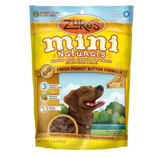 Zukes Mini Naturals Dog Treats Peanut Butter 1 lb