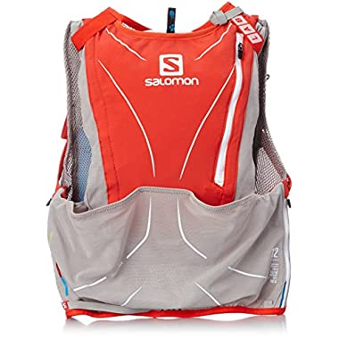 Salomon S-Lab Advanced Skin 3 12 Set Racing Vest (2XS) - Racing Red/Aluminum