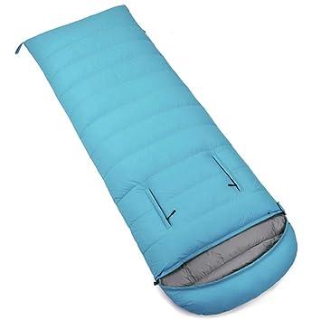 SHUIDAI Adulto abajo durmiendo bolsa primavera invierno momia abajo saco de dormir adulto acampar al aire libre: Amazon.es: Deportes y aire libre