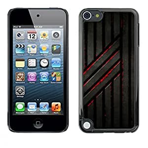 MOBMART Carcasa Funda Case Cover Armor Shell PARA Apple iPod Touch 5 - Rusted Blood Railings