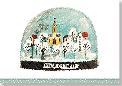 Village Snowglobe Small Boxed Holiday Cards (Christmas Cards, Holiday Cards, Greeting Cards)