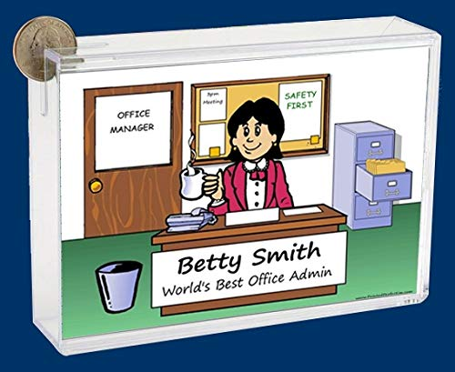Personalized NTT Cartoon Side Slide Frame Gift: Clean Office Female Gift, boss, Supervisor, Manager, Business Owner, Entrepreneur, Office Manager, Payroll
