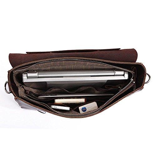 FRAZILL Herren Leder Aktentasche Herren Handtaschen Herren Umhängetasche Herren Laptop Tasche Hohe Qualität JM7155