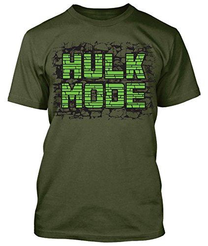 Beast Mode Hulk Shirt Workout Gear Gym Body Building MMA Weight Lifting, Military Green, XL