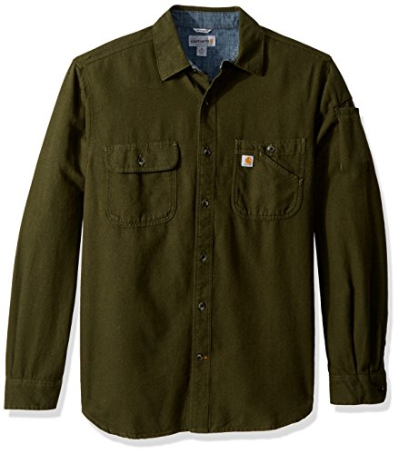 Carhartt Men's Beartooth Solid Long Sleeve Shirt, peat Heather, ()