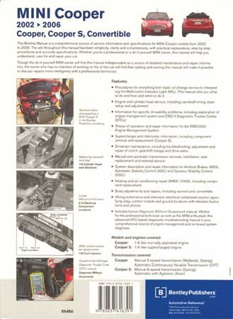 MINI Cooper Service Manual from Bentley 2002-2006 by Mini Mania (Image #1)