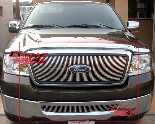 APS Compatible 06-08 Ford F-150 Honeycomb Style Vertical Billet Grille Grill Combo Insert