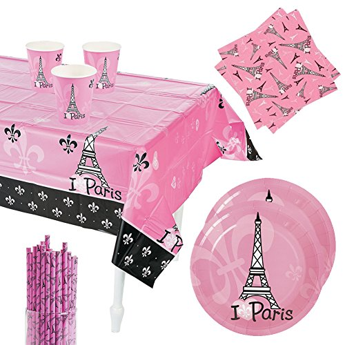 Perfectly Paris Party Pack for 16 Guests -