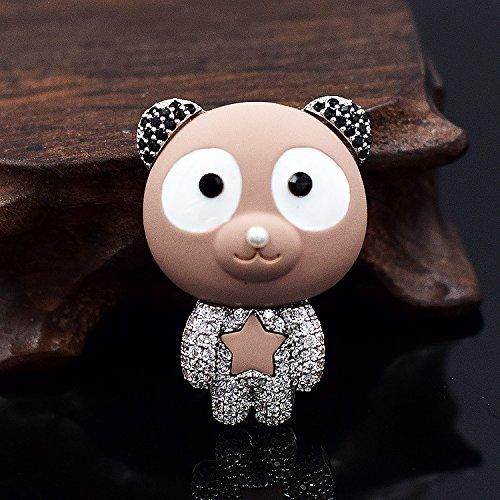 high-grade girls a sense fashion burst panda brooch pin pin button shawl women girls baby panda baby